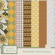 Bohemian Overlays - $3.99 : Digital Scrapbooking Studio
