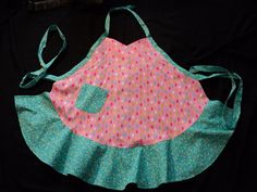 Apron-retro style-pink popsicles by lmjatJahnFarms on Etsy