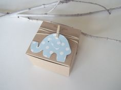 Etsy: 25 Baby Shower Favor Box baby blue polka dot by CrazyPaperLove (34.50)