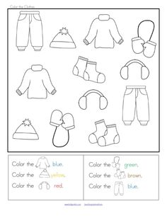 WINTER Clothes Sort - Categorizing Centers and Printables for Preschool