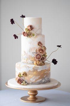 Wedding Cake Fresh Flowers, Floral Wedding Cakes, Wedding Cake Designs, New Cake Design, Easy Mug Cake, Sugar Flowers, Cake Flowers, Take The Cake, Unique Cakes