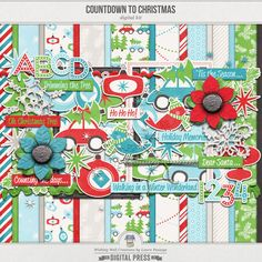 Countdown to Christmas by Laura Passage:  http://www.thedigitalpress.co/shop/countdown-to-christmas-kit/ #scrapbook #digiscrap