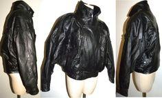 1980s 80s Jacket / Black Leather / Jacket by JewvenchyVintageshop