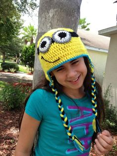 Despicable Me Minion hat (with a despicable child model and tutorial) ~ free pattern