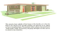 The Kirkwood, Swift Homes Houseplan Catalogue, 1957 midcentury modern