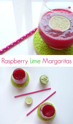 Raspberry Lime Margaritas recipe - a sweet and zingy cocktail which is easy to make and sooo addictive! Ideal for Cinco de Mayo! | www.pinkrecipebox.com