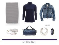 """My Style Diary"" by jane-doe-1977 ❤ liked on Polyvore featuring White + Warren, Converse, H&M, Gabriele Frantzen and Jewelonfire"
