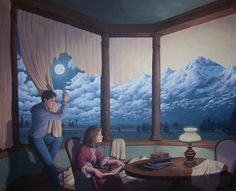"Rob Gonsalves "" Change of Scenery 2 ( Making Mountains) ""-Giclée on Paper 10"" h x 8"" w Limited 300"