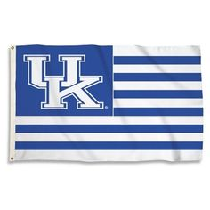 Show your allegiance to the Kentucky Wildcats by flying this 3x5 ft. USA style striped flag! This officially licensed University of Kentucky flag is made of durable, 100% polyester with a reinforced h                                                                                                                                                                                 More