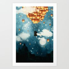 Where all the wishes come true Art Print