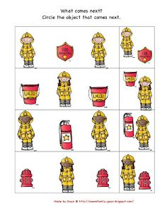 Preschool printables fire safety more safety patterns firefighter