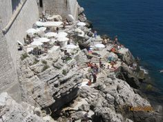 Cafe Buza in Dubrovnik, Croatia. Now that's a view! Crazy kids as young as 7 were jumping off the cliffs here! Adriatic Sea, Dubrovnik Croatia, Eastern Europe, Budapest, Places Ive Been, Mount Rushmore, Cool Photos, To Go, Crazy Kids