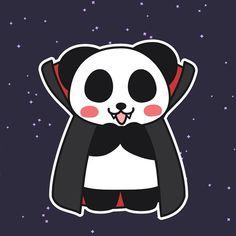 Vampire Panda #vampire #panda #pandakuma #halloween