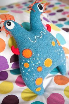 Amazing Home Sewing Crafts Ideas. Incredible Home Sewing Crafts Ideas. Sewing Toys, Sewing Crafts, Sewing Projects, Monster Dolls, Felt Monster, Sewing Stuffed Animals, Stuffed Toys Patterns, Stitch Toy, Ugly Dolls