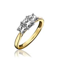 Diamond Ring Three Stone Claw Set 18ct Yellow Gold   C W Sellors Fine Jewellery and Luxury Watches