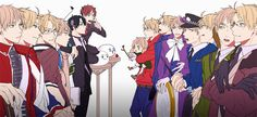 AUs: Country, Gakuen, Revolutionary War, Cardverse, Color Police, Sweet Devil, Bun & Wolf, and Mochis