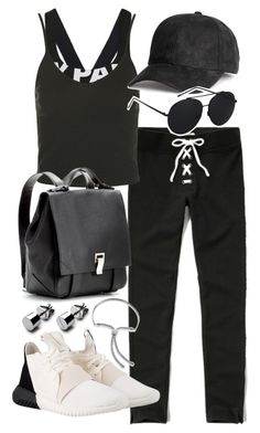 """""""Untitled #19870"""" by florencia95 ❤ liked on Polyvore featuring Topshop, Abercrombie & Fitch, adidas Originals, Proenza Schouler and Monica Vinader"""