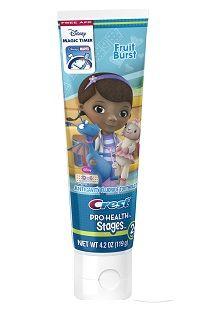 Doc McStuffins toothpaste for kids