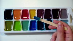 How to Make Nontoxic Watercolor Paint. If your children love to paint, but love putting paint in their mouths even more, then a nontoxic watercolor paint recipe may be just what you need. Craft Stick Crafts, Crafts For Kids, Activities For Kids, Liquid Watercolor, Watercolour Painting, Homemade Watercolors, Liquid Food Coloring, Homemade Paint, Acrylic Craft Paint