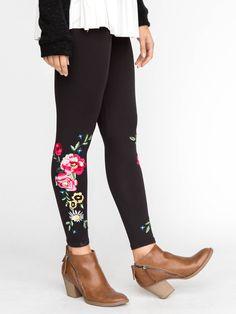 a3ea72c31d94c Agnes and Dora #embroidered #leggings #leggingsarepants #agnesanddora  #fallfashion #floral #