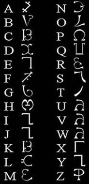 alfabetos magicos, bruxas, maconaria, cabalah, magos, enoch