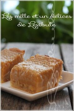 les milles & un délices de ~lexibule~: ~Carrés tarte au sucre~ Cupcake Recipes, Cookie Recipes, Dessert Recipes, Poor Mans Pudding, Tarte Vegan, Icebox Pie, Easy Meals For Two, Sugar Pie, Afternoon Snacks