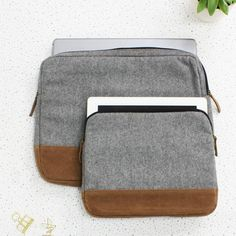 wool laptop and ipad case by the british belt company   notonthehighstreet.com