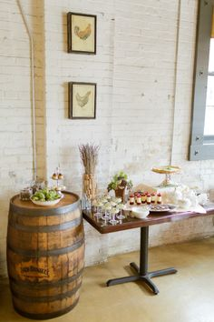 Pretty, rustic wedding inspiration—the barrel is a nice touch❣  stylemepretty.com • photographer, Andi Mans