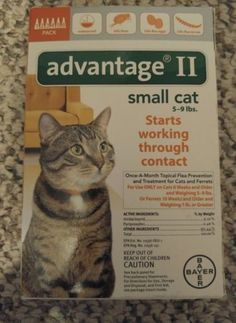 Flea and Tick Remedies 20738: Bayer Advantage Ii For Small Cats 5-9 Lbs - 6 Pack - Flea Treatment Control -> BUY IT NOW ONLY: $59.99 on eBay!