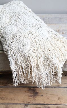 beautiful bedrooms crochet throw white linen - Google Search