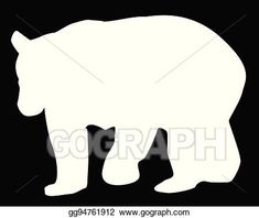 Vector Art - Large brown bear silhouette. EPS clipart gg94761912 - GoGraph Bear Silhouette, Animals Images, Brown Bear, Vector Art, Clip Art