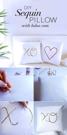 DIY: Sequin Pillow