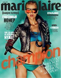 Nastya Belochkina Marie Claire Cover July 2012