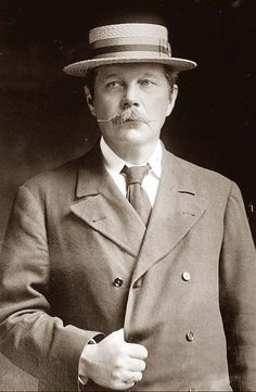 Sir Arthur Conan Doyle, Scottish physician & author of Sherlock Holmes. If you haven't read the books, pick one up or check one out on-line. Genius.