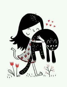 Dziewczynka z kotkiem