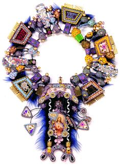 Contemporary necklace by Wolli Lieglein, Berlin from the early 1990s