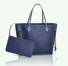 f5eaadeb679 I m loving this Louis Vuitton bag in blue Vogue Fashion