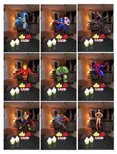 Super Hero Batman Wonder Woman Spiderman Captain America Hulk Iron Man Superman Thor Super Heroes Centerpieces Party Ideas www.smartiespartiesforyou.com