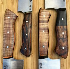 Japanese Kitchen Knives, Chef Knives, Knife Handles, Blade Runner, Knife Making, Choppers, Toys For Boys, Blacksmithing, Metal Working