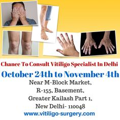 Chance to consult #vitiligospecialist  The Schedule of Dr. Holla's visit in #Newdelhi
