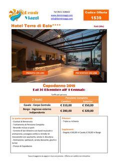 Hotel Terre di Eolo - Patti (Me) #Capodanno 2018 Per info e preventivi tel 0921428602 Email: info@demirviaggi.com Web: www.demirviaggi.com #Sicilia #Viaggi #LastMinute #Offerte