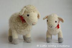 Items similar to Haakpatroon Cora het schaap en Sofie het lammetje on Etsy Crochet Sheep, Knit Or Crochet, Crochet Gifts, Crochet Animals, Crochet Toys, The Used, Half Double Crochet, Single Crochet, Amigurumi Patterns