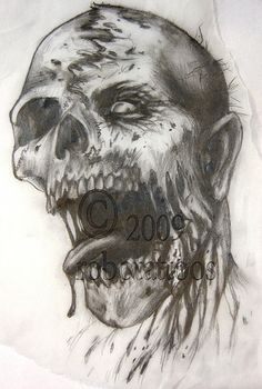 drawing for zombie by robotattoos, via Flickr