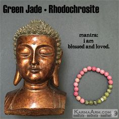 Rhodochrosite represents selfless love and compassion. #love #yoga #mala #women #men #bracelets #bracelet #chakra #goals #happiness #bead #mantra #healing #zen #meditate #karma #style #prayer #spiritual #meditation #friendship #lucky #buddhist #buddha #fitness #luck #luxury #power #energy #crystal #grateful #motivate #mensstyle #jewelry #fashion jade #green #pink #OOAK #artisan #handmade