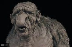 Trolls are from Norwegian folklore.  They have a human like appearance, but they are incredibly ugly and huge, and every story about them tells of how stupid they are.
