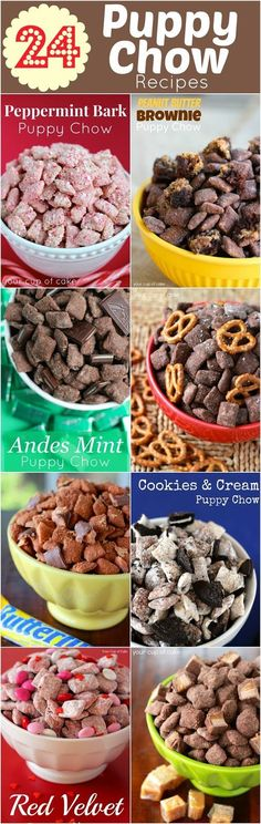 My favorite Puppy Chow… Peanut Butter Brownie, it's tossed in brownie mix instead of powdered sugar! This amazing recipes I founded at http...