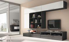 Conjunto muebles de comedor, mueble moderno de salón modular Modern Tv Cabinet, Modern Wall Units, Tv Furniture, Modular Furniture, Living Room Sets, Living Room Decor, Entertainment Wall, Tv Unit, Modern Interior
