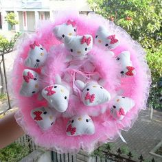 11 teddy bear cartoon bouquet classic holding flowers