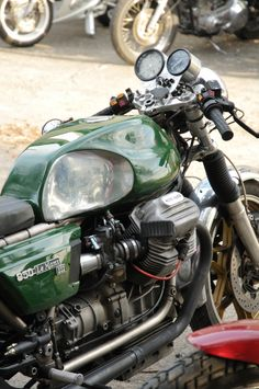 Moto Guzzi Café racer's not my style but this is beautifully done.