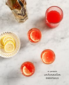 watermelon st. germain cocktails recipe - Love and Lemons